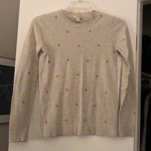 J.Crew dot teddie sweater